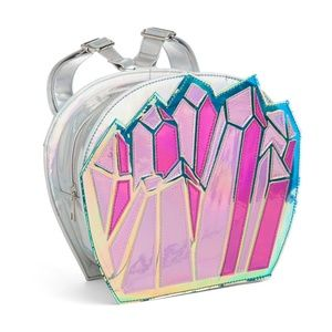 Quartzy Quartz Holographic Silver Backpack NEW